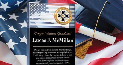 Police Graduation Plaques