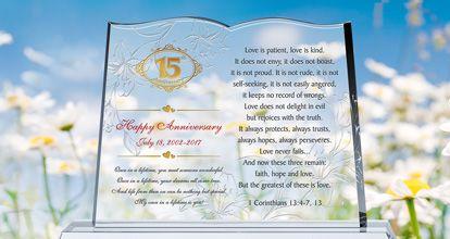 15th Anniversary Wordings