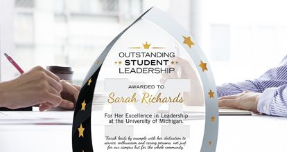 Leadership Award Wording