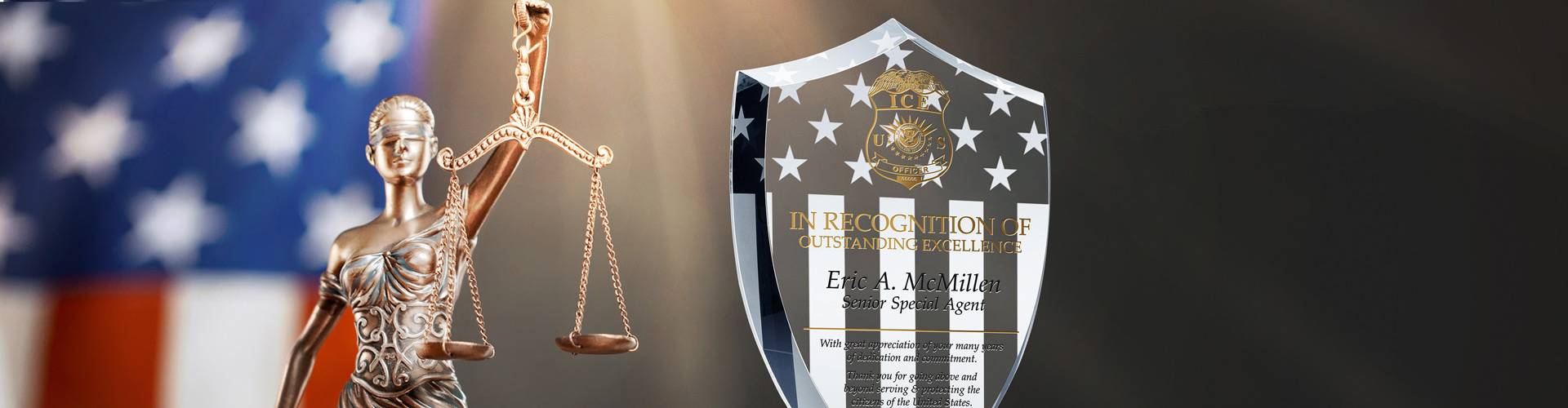 Custom Gift Award Plaques for Law Enforcement Professionals - Banner 1
