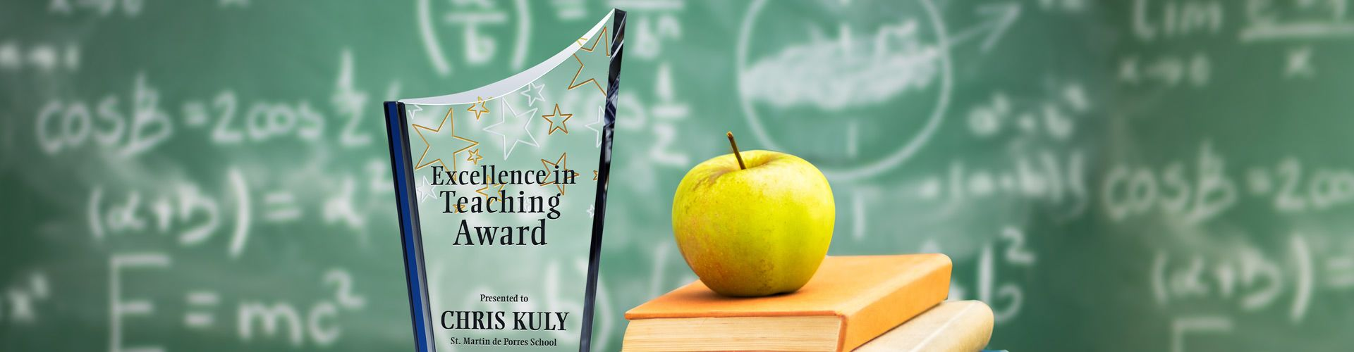Teacher Recognition Gifts: Custom Award Plaques - Banner 1