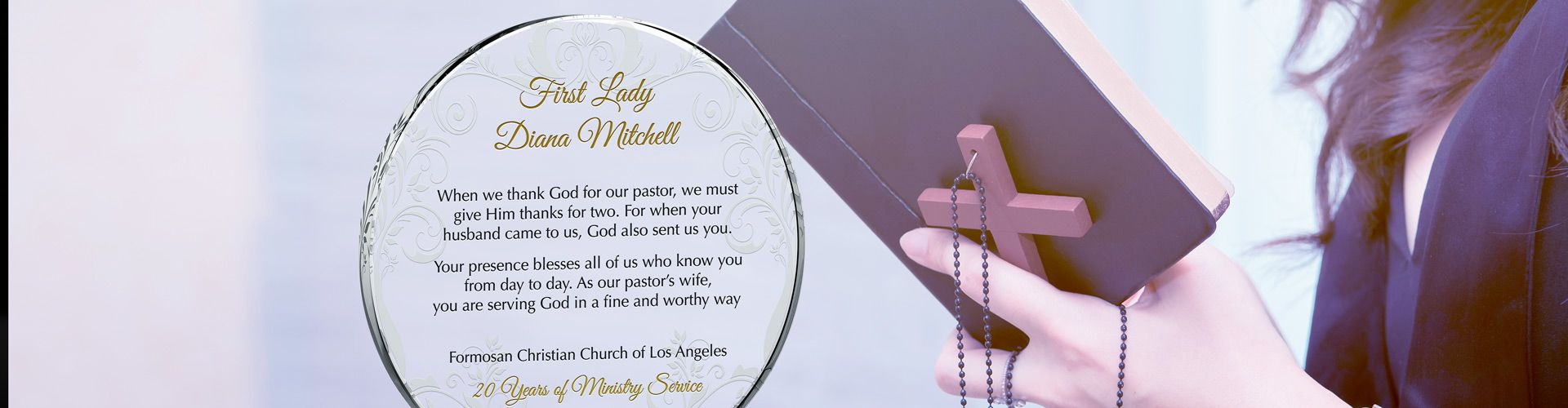 Personalized Gift Plaques for Pastor's Wife - Banner 1