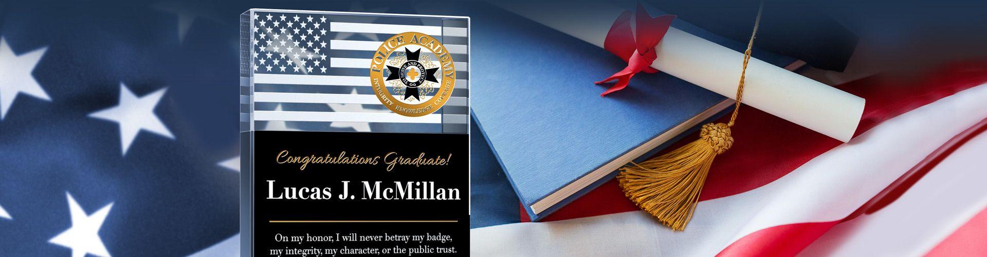 Custom Police Academy Graduation Award Plaques - Banner 1