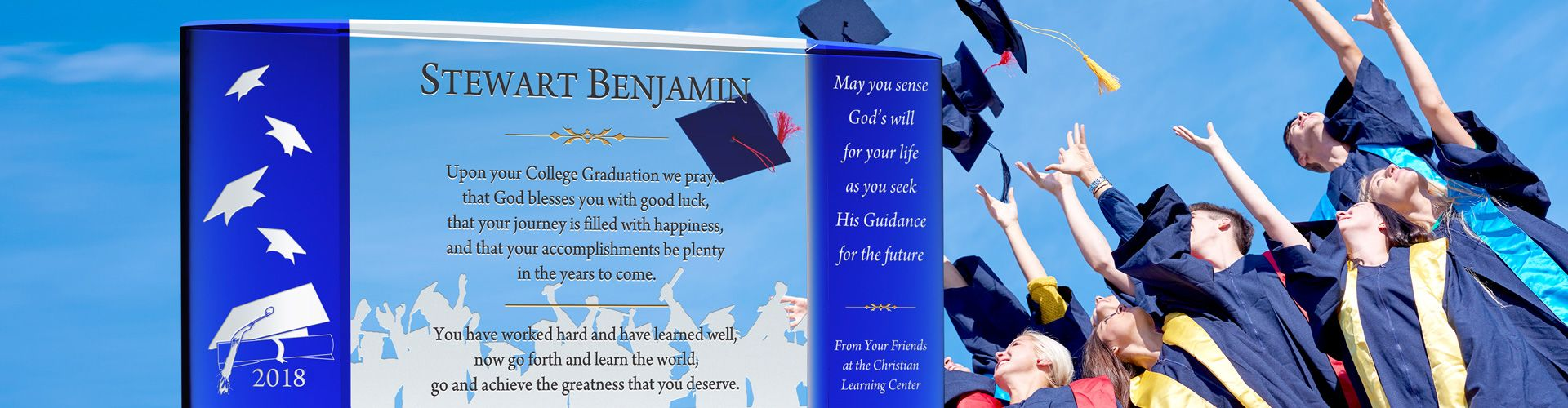 Personalized Crystal Graduation Plaques and Gifts - Banner 1