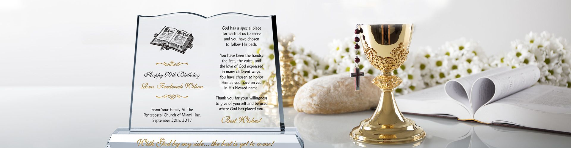 Personalized Pastor's Birthday Gift Plaques - Banner 1