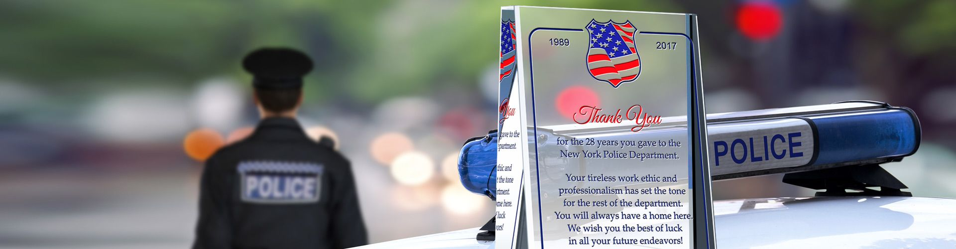 Police Retirement Awards & Personalized Crystal Plaques - Banner 1