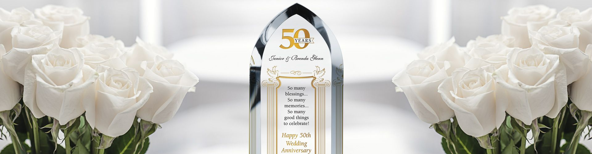 50th Wedding Anniversary Wording Ideas And Sample Layout Diy Awards