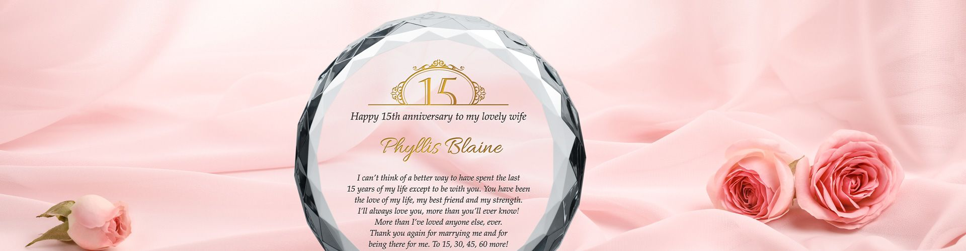 Personalized Crystal Wedding Anniversary Gifts Diy Awards