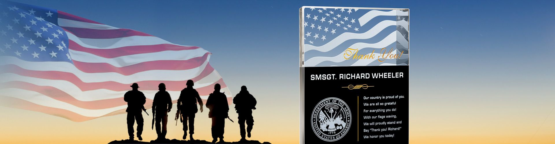 Custom Crystal Plaques for Army Members & Veterans - Banner 1