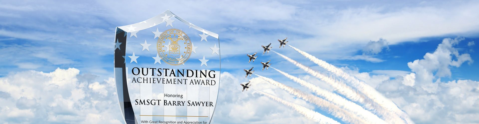 Personalized Award Plaques for Air Force Veterans & Members - Banner 1