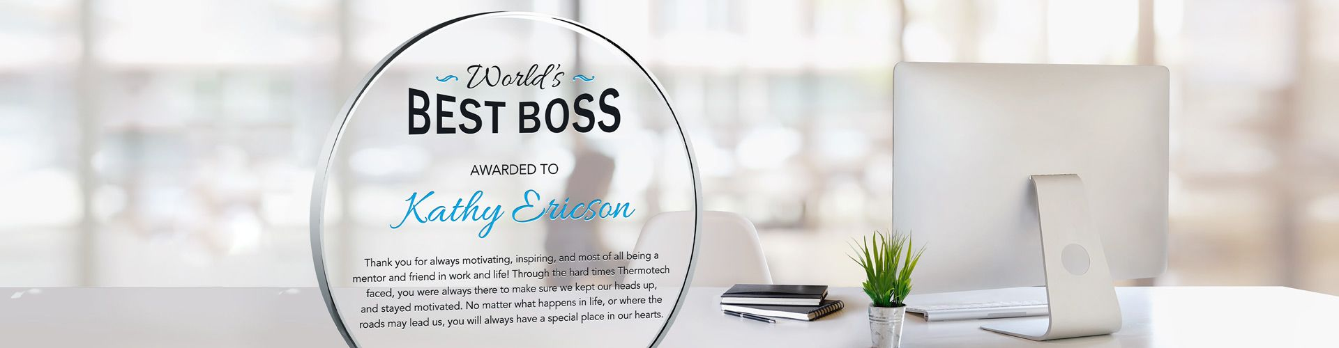 Buy A Custom Appreciation Plaque for Your Boss or Manager - Banner 1