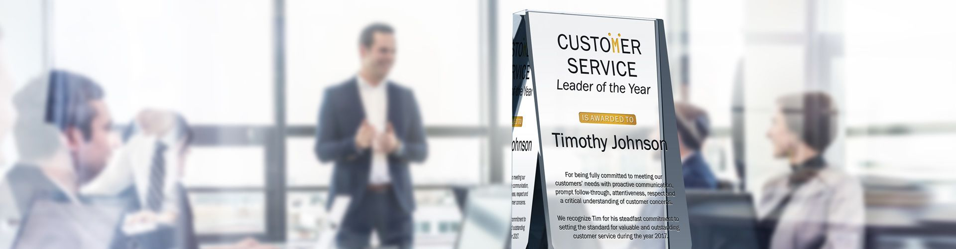Personalized Crystal Customer Service Awards & Plaques - Banner 1