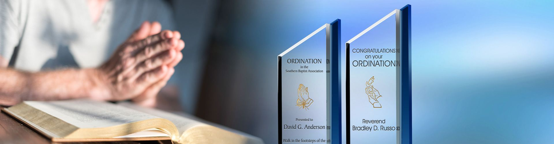 Celebrate Your Pastor with A Custom Ordination Plaque - Banner 1