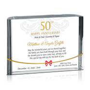 Personalized 50th Wedding Anniversary Gift for Parents