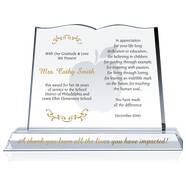 Crystal Book Teacher Appreciation Award