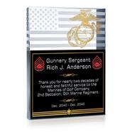 Marine Corps Service Plaque
