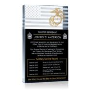 Marine Corps Retirement Plaque