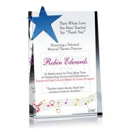 Music Teacher Appreciation Plaque