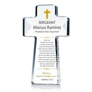 Police Prayer Cross Plaque