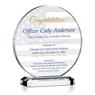 Police Graduation Gift Plaque
