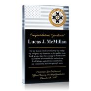 Police Academy Graduation Plaque