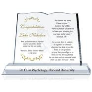Christian Graduation Gift Plaque