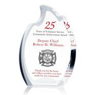 Firefighter Achievement Award Plaque