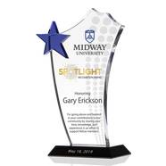 Crystal Spotlight Recognition Award Plaque