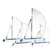 Custom Crystal Sailboat Award Plaque